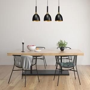 Závěsná lampa Clark Black / Gold 3x E27 small 6