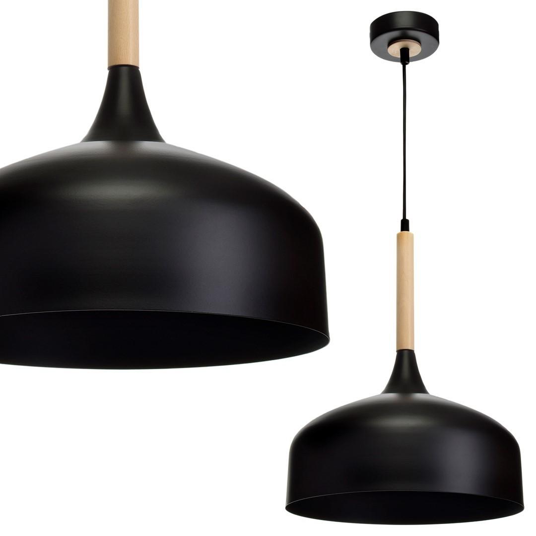 Závěsná lampa Taylor Black 1x E27 60 W