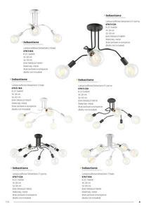 Moderní stropní lampa Sebastiano 5 černá small 2