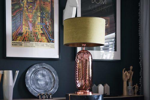 Stylová stolní lampa Chloe Lister Brown Famlight E27 60W