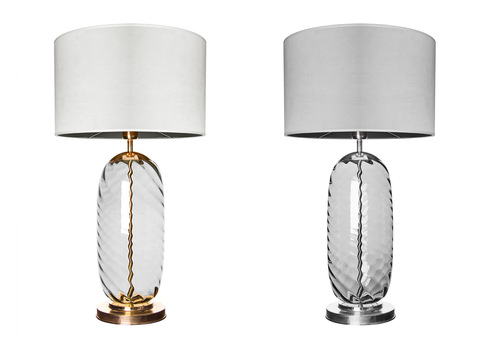 Krásná stolní lampa Chloe Lister Brown Famlight E27 60W měď
