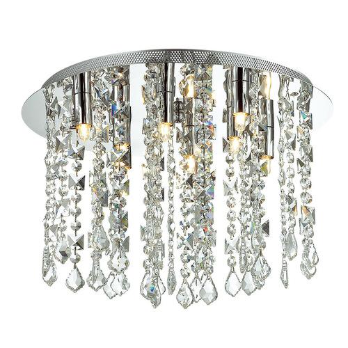 Klasická 8bodová stropní lampa Shiraz G9 Crystals