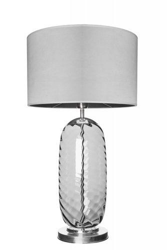 Stylová stolní lampa Chloe Lister Grey Famlight šedá / nerezová ocel E27 60W