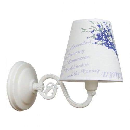 Nástěnná lampa 1-pł. LAVENDA Bílá