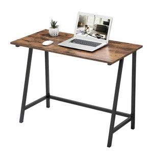 Rustikální hnědý počítačový stůl LWD40X small 2