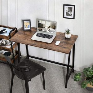 Rustikální hnědý počítačový stůl LWD40X small 4