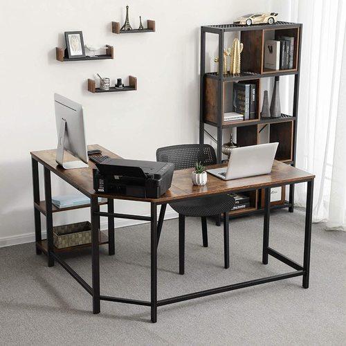 Rohový počítačový stůl LWD72X