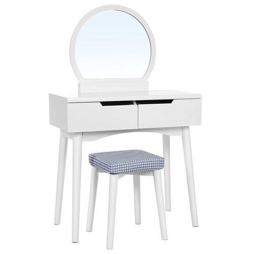 Klasický bílý toaletní stolek RDT11W