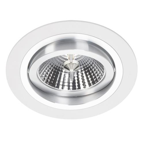 Bílé svítidlo Alcazar Downlight s chromem 140.WC