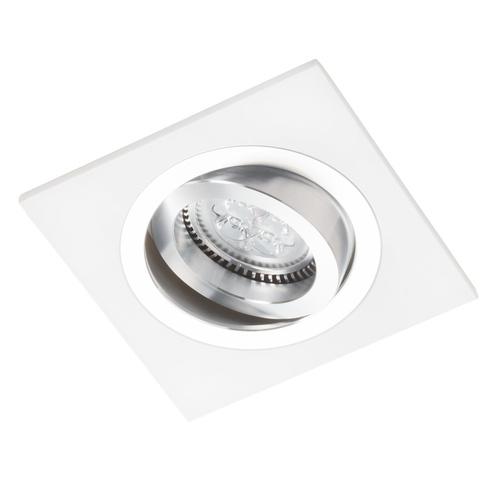Bílý čtverec Alcazar s chromem 541.WC