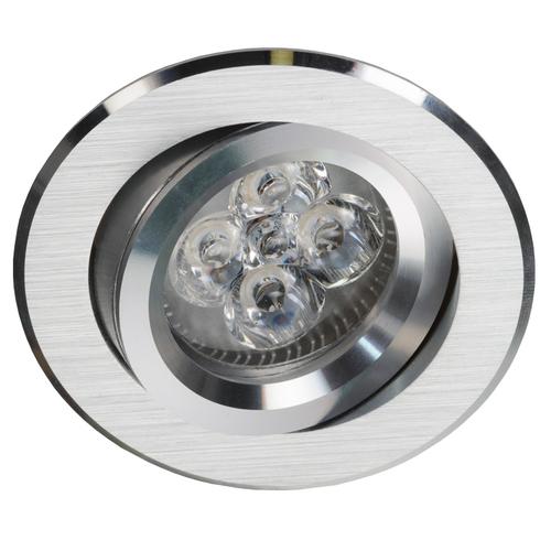 Stříbrný kulatý náklon Spot Alcoy 540.SC