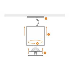 White Cilo Downlight Tube small 4