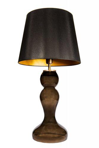 Noční lampa se stínidlem Famlight Flores Šedá černá / zlatá E27 60W