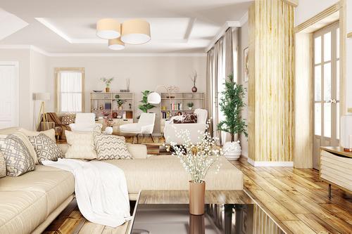 Moderní stropní svítidlo - Elements 60W E27 plafond krémová / bílá velurová