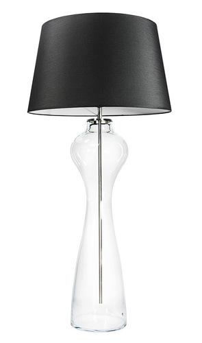 Velká stolní lampa Famlight Havana L Transparent E27 60W grafit / bílá