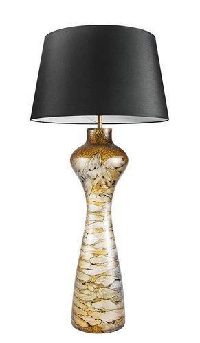 Zajímavá stolní lampa Havana L Sahara Famlight E27 60W grafit / bílá