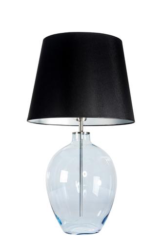 Stojací lampa se stínidlem Luzon Pearl Famlight černá / stříbrná E27 60W