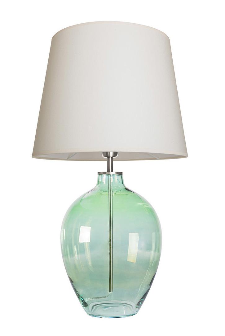 Ručně vyrobená lampa Luzon Olive Famlight krémová / bílá E27 60W