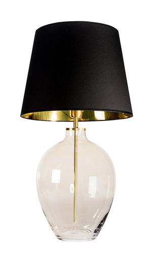 Elegantní stolní lampa Luzon Topaz Famlight černá / zlatá E27 60W mosaz