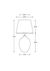 Elegantní stolní lampa Luzon Topaz Famlight černá / zlatá E27 60W mosaz small 2