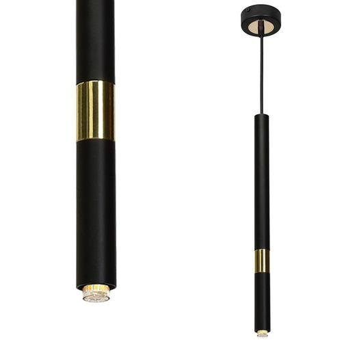 Závěsná lampa Monza černá / zlatá 1x G9 8 W.