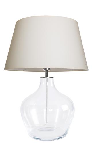 Moderní stolní lampa Famlight Madeira Transparentní krémová / bílá E27 60W