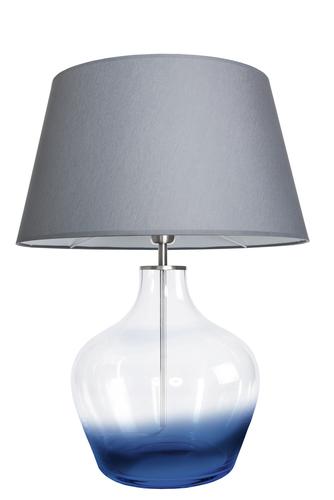 Stylová stolní lampa Famlight Madeira Blur šedá / bílá E27 60W