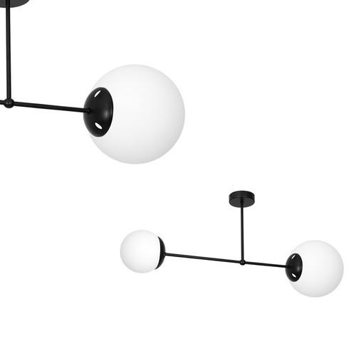 Stropní svítidlo Lima Black 2x E14