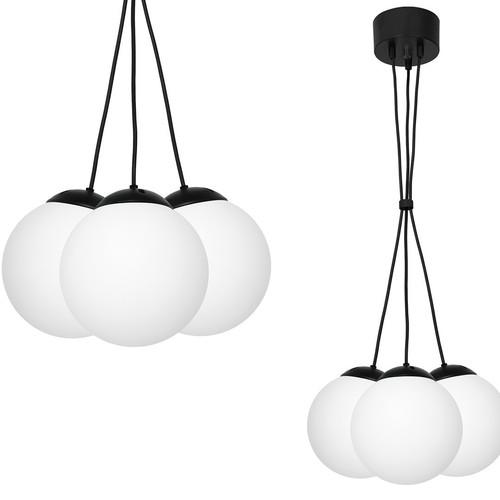 Závěsná lampa Lima Black 3x E14