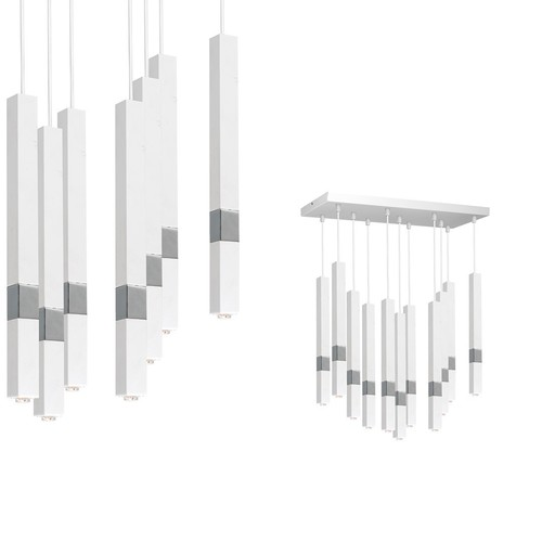 Závěsná lampa Castro White / Chrome 11x G9