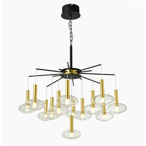 Černá závěsná lampa Hasselt LED