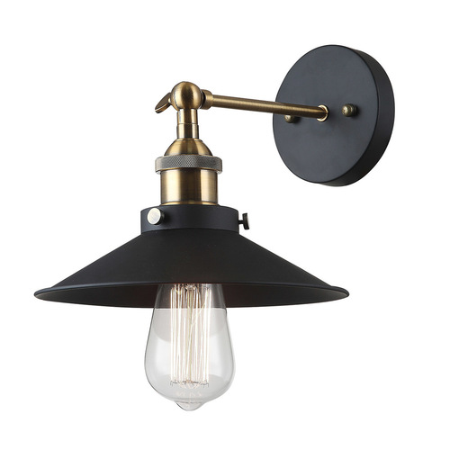 Černá nástěnná lampa Kermio E27