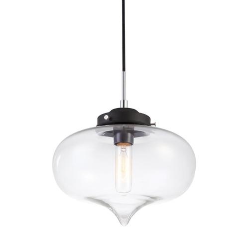 Černá závěsná lampa srdce E27