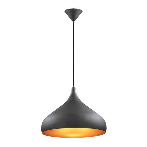 Černá závěsná lampa Juan E27