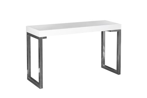 Psací stůl INVICTA VERK 120x40 bílá - ocel