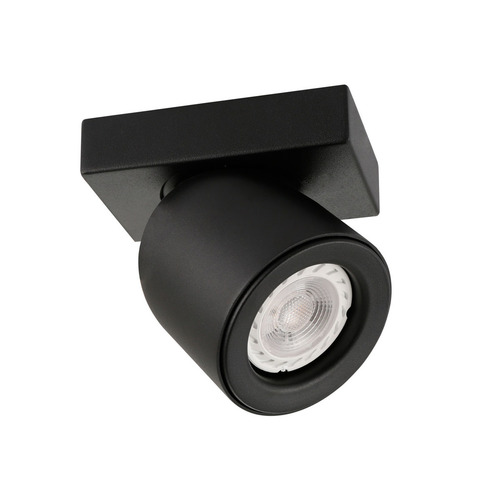 Černý moderní reflektor Nuora GU10