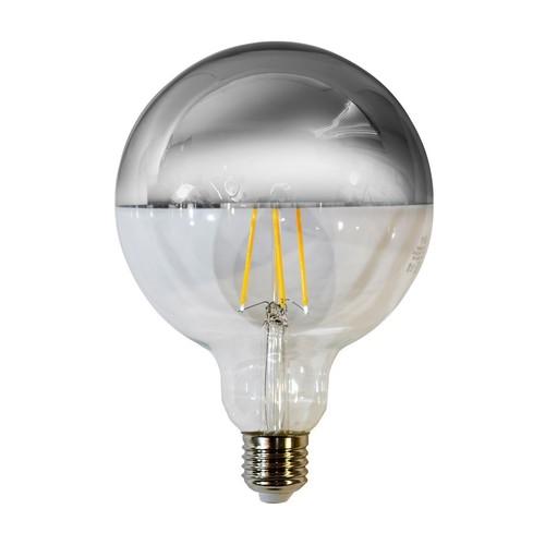 7,5 W žárovka LED s vlákny G125 E27 stříbrná
