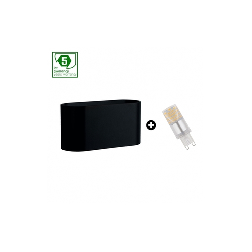 Balíček 5leté záruky: Squalla G9 Black + Led G9 4w Ww (Slip006010 + Woj + 14433)