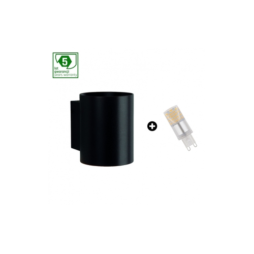 Balíček 5leté záruky: Squalla G9 Tuba Black + Led G9 4w Cw (Slip006012 + Woj + 14435)
