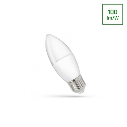 LED svíčka E-27 230v 1w Cw spektrum