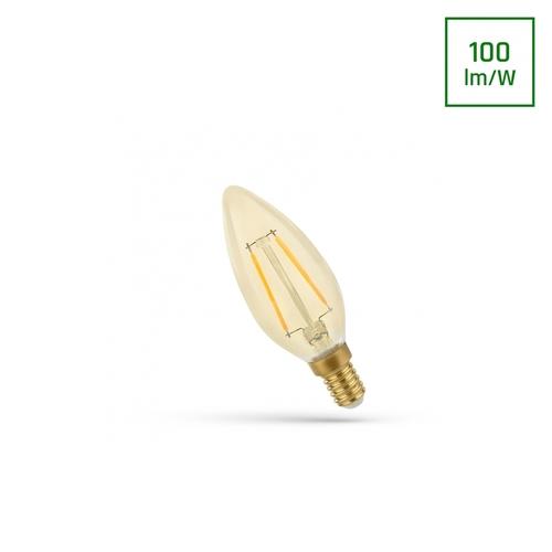 LED svíčka E-14 230v 5w Cog Ww Retroshine Spectrum