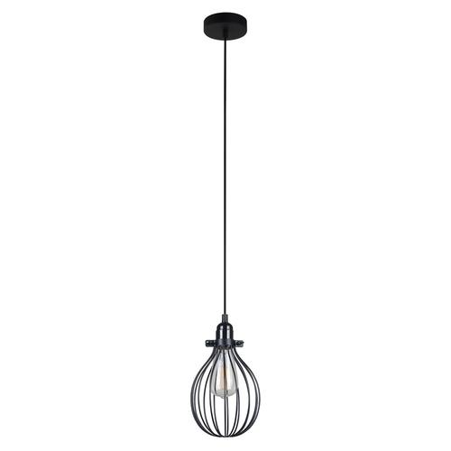 Černá závěsná lampa Lesto E27