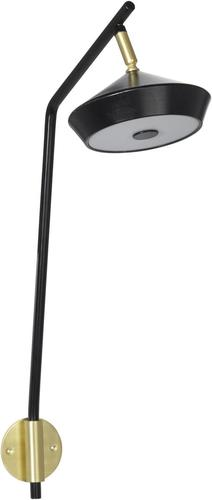 Nástěnná lampa Geometri Black / Gold 53cm - PR Home