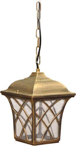 Závěsná venkovní lampa K-5180H černá / zlatá ze série KERRY