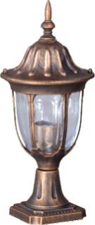 Nízká venkovní stojací lampa K-5007S2 / N černá / zlatá ze série VASCO