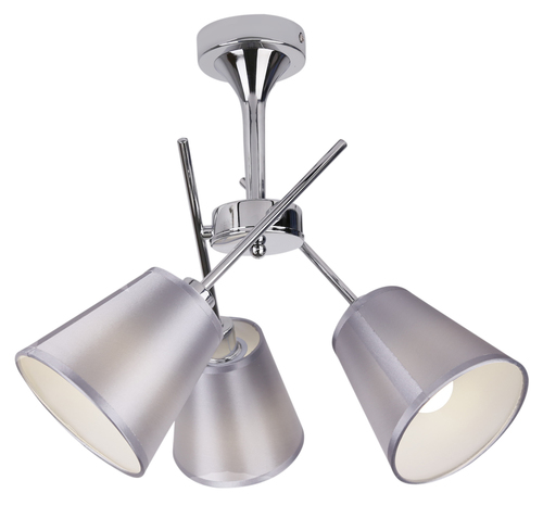 Vox závěsná lampa 3X40W E14 chrom se stínidlem