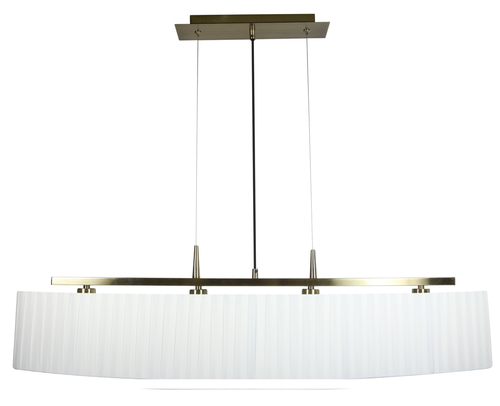 Závěsná lampa Berg 4X40W E14 Patina Stínidlo bílé
