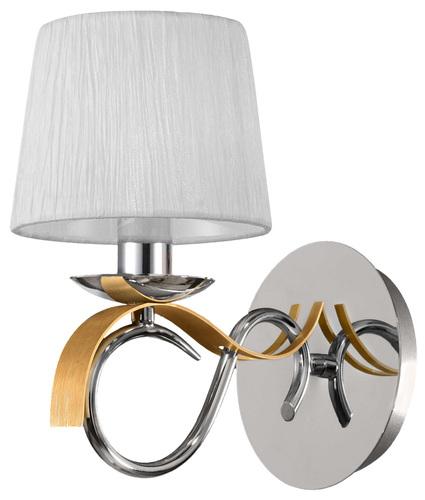 Nástěnná lampa Denis 1X40W E14 chrom / zlato + stínidlo stejný index