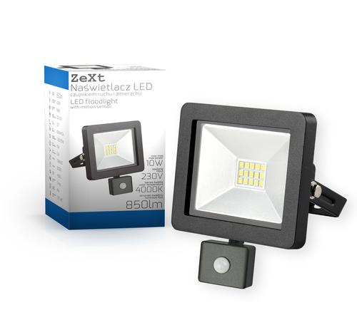 Naświetlacz LED slim 10W/230V 4000K PIR