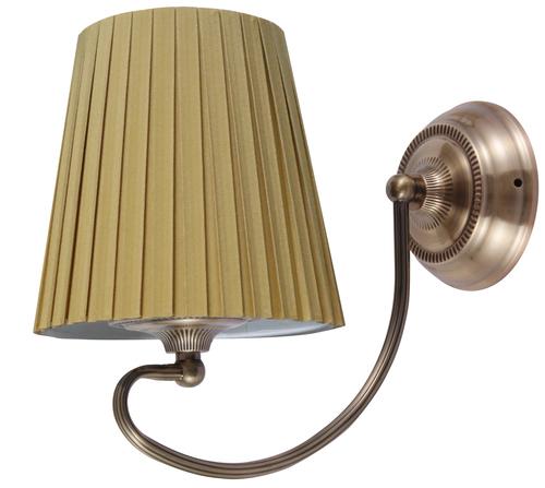 Nástěnná lampa Mozart 1X60W E27 Patina Měděný med